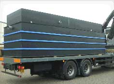 Sewage Treatment Plant being despatched from factoory, 100pe